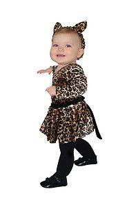 leopard baby CAT kids toddler girls long sleeve dress halloween costume 18M 24M