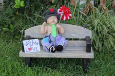 Wooden Park Bench Photography Prop by TwinkleStarPhotoProp on Etsy, $65.00