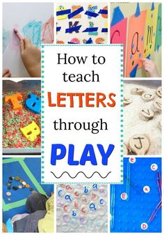 How to teach letters through play