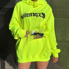 Sampic women print oversize casual neon hoodies sweatshirts loose long sleeve hoodies autumn 2019 - - Source by Neon Outfits, Teen Fashion Outfits, Swag Outfits, Mode Outfits, Cute Casual Outfits, Stylish Outfits, Fresh Outfits, Tomboy Outfits, Punk Fashion