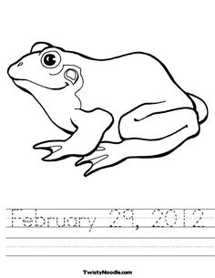 coloring pages for leap year - photo#24