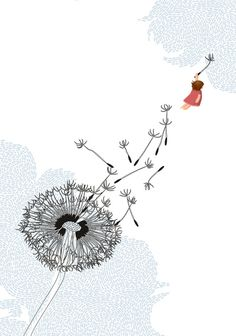 To drift away on the parachute of a dandelion ...