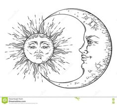 Vector Sun Tattoo Stock Vector - Image: 61820528