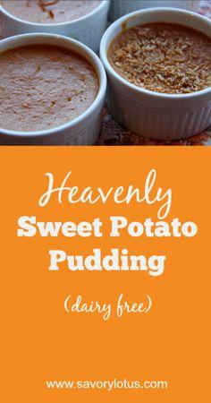 Heavenly Sweet Potato Pudding (grain free, dairy free) - savorylotus.com