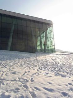snow on the opera roof