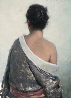 """American Legacy Fine Arts presents """"Pilar in Grey Kimono"""" a painting by Jeremy Lipking. Painting People, Figure Painting, Figure Drawing, Drawing Reference, Amazing Paintings, Amazing Art, Sculpture Museum, Pastel Portraits, Africa Art"""