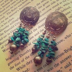 Vintage Mexican Sterling and turquoise earrings Fab vintage clip on earrings, stamped Mexico 925 on reverse. *downsizing, everything must go! open to reasonable offers. no trades or paypal. Always happy to quote a bundle. I can usually ship next day! Jewelry Earrings