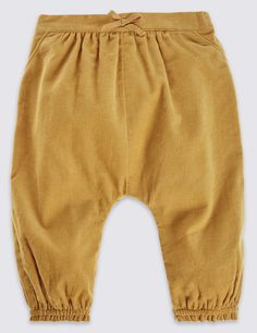 Pure Cotton Cord Bloomer Trousers | Marks & Spencer London