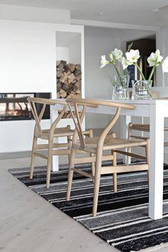 wishbone chair & Scandinavian interior