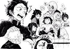 Đọc Truyện Doujinshi Kimetsu no Yaiba - Funny :))) - ~Trứng-chan~ - Wattpad - Wattpad Manga Anime, Anime Demon, Anime Art, Demon Slayer, Slayer Anime, Manga Drawing, Manga Art, Chibi, Pinterest Instagram