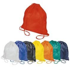Budget Drawstring Backpack  Size : 35cm (W) x 41cm (H) Material : Nylon 190T Two Cord Handles