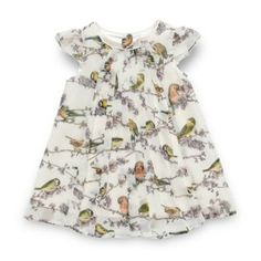 Baker by Ted Baker Babies white bird dress- at Debenhams Mobile