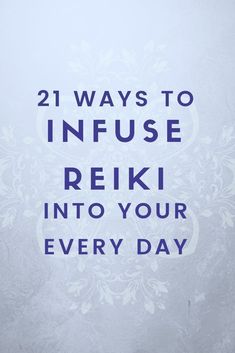Infusing Reiki into Everyday 21 Ways to Use Reiki : Infusing Reiki into Everyday How to Infuse Reiki Reiki, translated as spiritually guided life force energy, is not exclusively channeled to humans and pets. In fact, Reiki can be channeled to inanima Self Treatment, Tantra, Reiki Training, Strength Training, Kundalini, Reiki Courses, Reiki Therapy, Learn Reiki, Tips