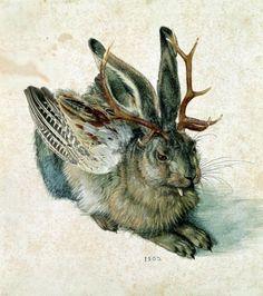 The Wolpertinger or Rasselbock - as imagined after Albrecht Dürer's drawing of a hare.