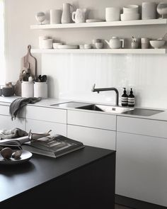 A Scandinavian-based designer brand located in Stockholm, Sweden. Redo Kitchen Cabinets, Kitchen Taps, Open Kitchen, Beautiful Kitchens, Beautiful Interiors, Minimal Kitchen, Scandinavian Kitchen, Updated Kitchen, Bathroom Styling