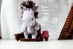 Miniature Teddy Horse  Symbol 2014  New Year gift  by farberovao, $75.00