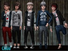 Fashionable and trendy set for kids - pants, sweater and jacket by ShojoAngel - Sims 3 Downloads CC Caboodle