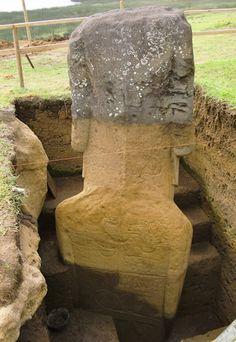 Le corps des statues Moaï de l'Île de Pâques