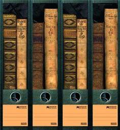 File Art - Etiquettes à design pour 4 classeurs A4 dos large - Motif Bücher: Amazon.fr: Fournitures de bureau