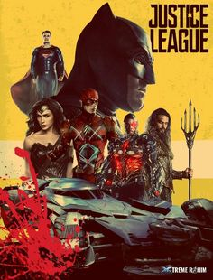 Justice league fan made poster. #justiceleague #batman #dc