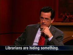 """shhhhhhhhhhhhhhhh!"" -- Stephen Colbert knows something!"