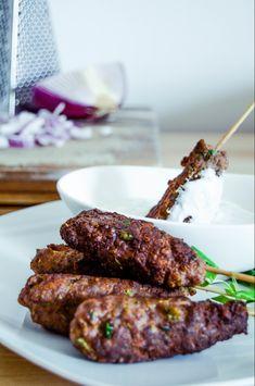 beef kofta with tzatziki – Jetanii Brooks Adams – macedonian food Lebanese Recipes, Turkish Recipes, Greek Recipes, Persian Recipes, Kabob Recipes, Meat Recipes, Cooking Recipes, Epicure Recipes, Recipies
