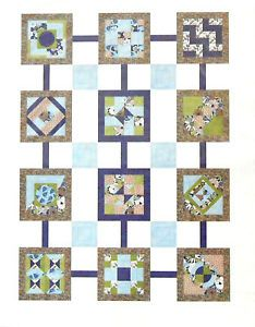 Jo Ann Quilt Blocks Sew Squared 12 Blocks Set Kit Binding New Colorful | eBay