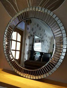 Mosaic Furniture, Mirrored Furniture, Console Mirror, Sunburst Mirror, Mosaic Projects, Mosaic Designs, Mosaic Art, Home Lighting, Glass Art