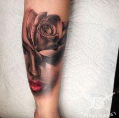 Blackwork Rose Tattoo by Tripps