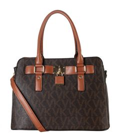 """DESIGNER LOCK FRONT TOTE BAG KV-3734 - 3 different colors: Black, Brown, and Beige - Material: PU Faux Leather. Magnet Closure. - 3 Compartments with 2 Zippered Pockets  - 2 Open Pockets Inside. 1 Large Pocket in Front. - Length 13"""" x Width 6"""" x Height 9.3"""""""