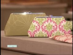 These are awesome!  Martha Stewart joined by Robin Grawunder of Upstyle Design on Etsy - a DIY beautiful fabric clutch.