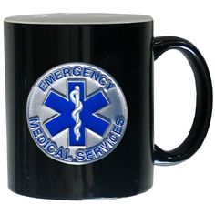 "Checkout our #LicensedGear products FREE SHIPPING + 10% OFF Coupon Code ""Official"" EMS Coffee Mug - Officially licensed Military, Patriotic & Firefighter product 14 ounce capacity Ceramic coffee mug Great gift for a true fan Metal EMS with enameled detail - Price: $29.00. Buy now at https://officiallylicensedgear.com/ems-coffee-mug-2smug203bw"