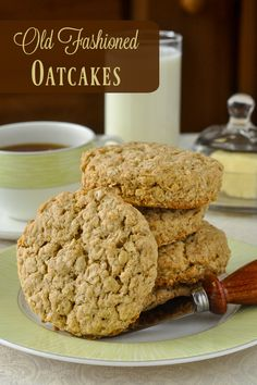 Old Fashioned Oatcakes - Perfect for quick breakfasts or packed lunches, these…