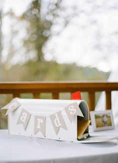 simple card mailbox   Chris Isham #wedding