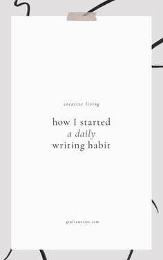 how to build a writing habit and write every day Becoming A Writer, I Am A Writer, Writing Advice, Start Writing, My Notes App, Write Every Day, Morning Pages, Word Out, Journal Prompts