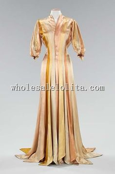1930s Silk Dress Late Victorian Era Style Inspiration Dressing Gown