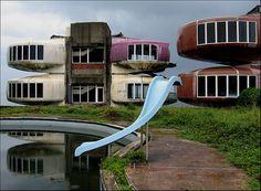 an abandoned resort in Sanchih, northern Taiwan