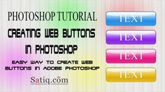 Photoshop Tutorial : How to Create Web Buttons in Photoshop