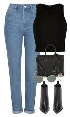 """Başlıksız #1293"" by zeynep-yagmur ❤ liked on Polyvore featuring Topshop, River Island, Acne Studios, Yves Saint Laurent, Ray-Ban and Fendi"