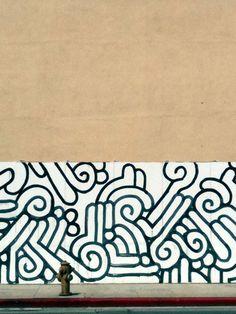 La Brea mural by Aaron De La Cruz