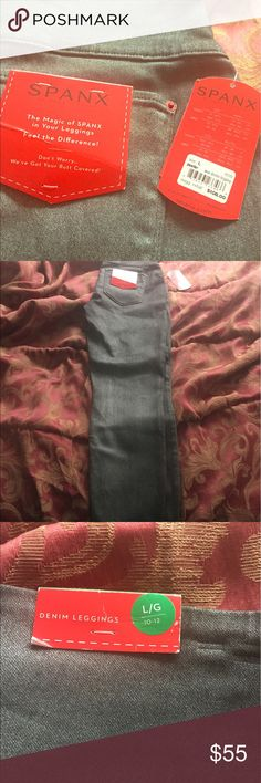 Spanx Denim Gray Leggings BNWT Brand new with tags and priced to sell leggings 🚫trades or modeling.  Make a reasonable offer. SPANX Pants Leggings