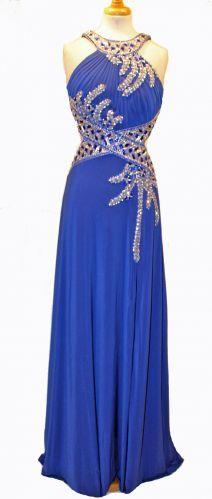 Royal blue backless dress