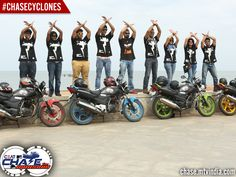 #Cyclones - All teams with their bikes #ChaseCyclones #ChaseTheMonsoon