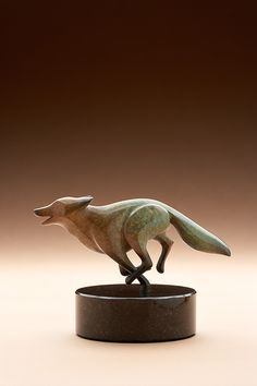 bronze fox, rust / turquois patina limited edition. $725.00, via Etsy.