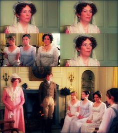 -What's the matter, mamma? Why do you keep winking at me? Why should I wink at you, child? What a notion! Why should I be winking at my own daughter, pray? Mrs Bennet, Period Dramas, Period Movies, Jane Austen Movies, Bbc Drama, Emma Thompson, The Best Films, I Love To Laugh, Pride And Prejudice
