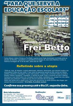 """Comunicado 6 """"Encontro com Frei Betto"""" - out.2009"""