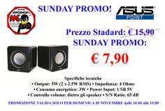 SUNDAY PROMO € 7,90 - www.infoshopsrl.it - Contatto x PROMO Cell. 338 8550883