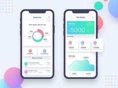 Banking App UI designed by Ishtiaq Khan Parag. Graphisches Design, App Ui Design, User Interface Design, Chart Design, Interior Design, Mobile App Design, Mobile Application Design, Dashboard Mobile, Mobile App Ui