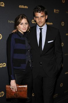 Olivia Palermo Leather Clutch - This amazing vintage clutch adds color and class to this entire outfit.