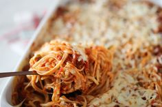"""Skinny"" baked spaghetti - freezes well"